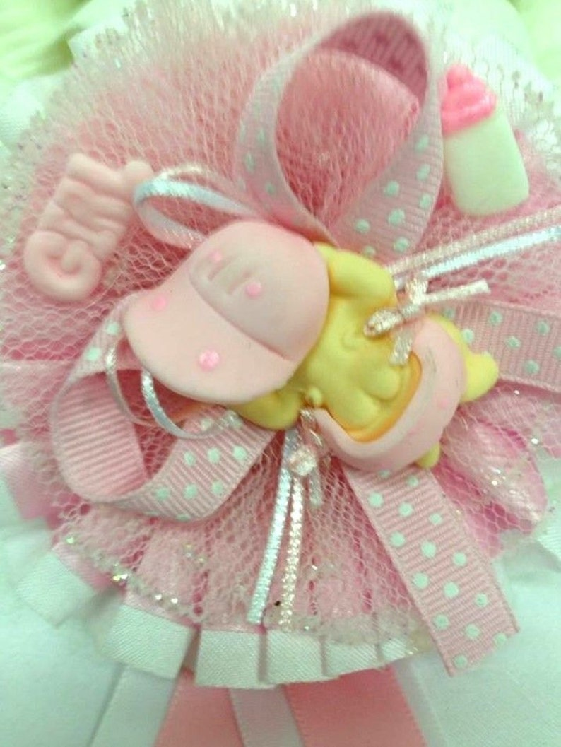 Baby Shower Badge Girl or Boy Mommy to Be and Daddy to Be Keepsake