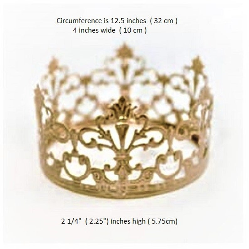 Crown Princess Prince Gold Crown With Flowers Cake Topper Rhinestones Decoration For Birthday Sweet 16 Weddings Choose Style
