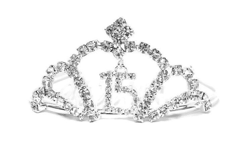 8a30f4a8006 Quinceanera Mis Quince Anos Mini Tiara Corona Sweet 15