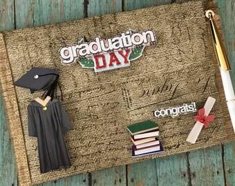 Graduation Day Class of Guest Book and Pen Keepsake Gift