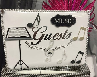 Music Enthusiast Party Guest Book Favor Keepsake Gift