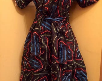 Reversible African Print Dress Many Colors