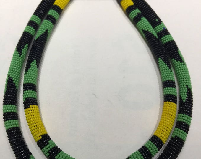 Double Strand Beaded Zulu Princess Necklace handworked in Africa