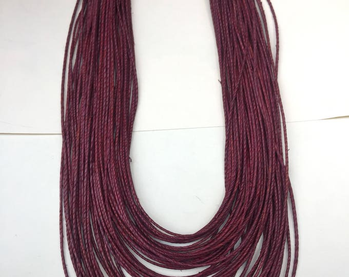 Multi Strand leather Necklace (opera style) handworked in Africa