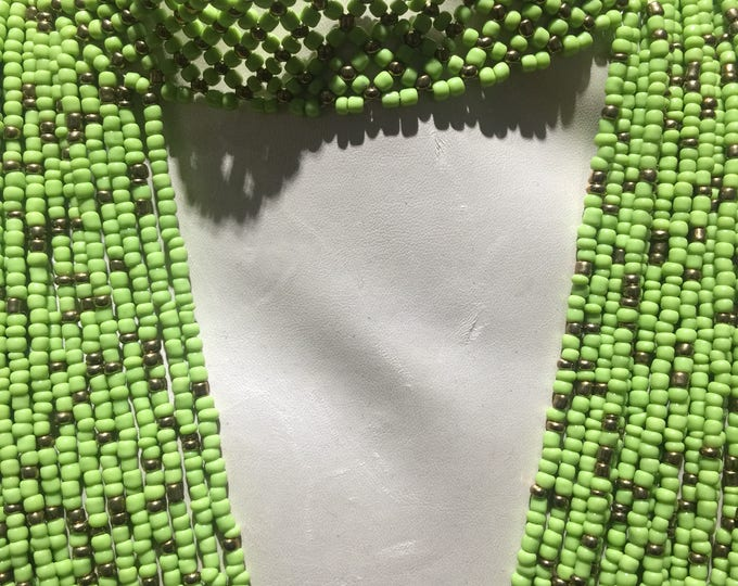 Multistrand Beaded Choker /Princess Necklace handworked in West Africa