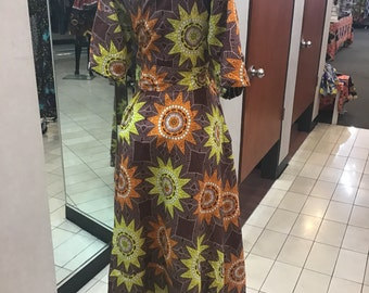 Reversible African Print Dress Many Colors 5