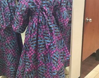 Reversible African Print Dress Many Colors 4