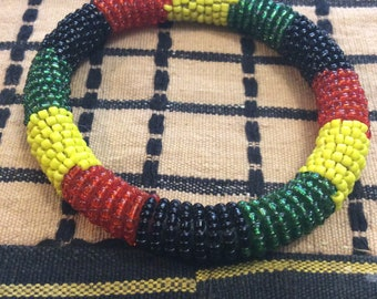 Beaded Round Masai Bracelet Flag Patterns  (Small to Large)