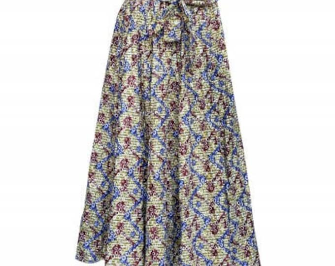 Ankara Traditional Wax Print Adjustable Strap Maxi West African Skirt (long)