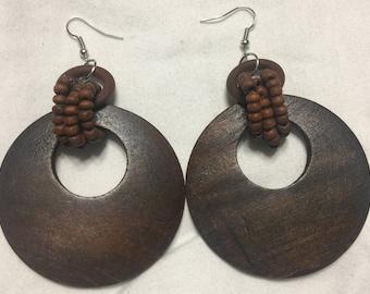Hoop Wooden Earring Pair