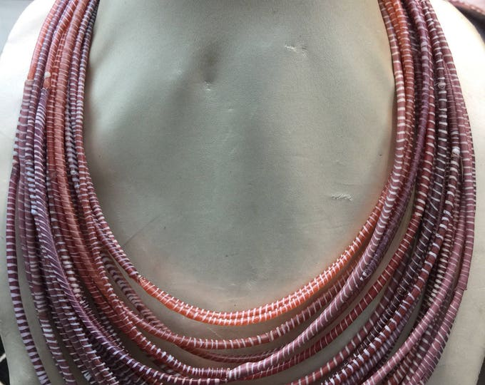 Multistrand Recycled Princess Necklace from Recycled Plastic in West Africa