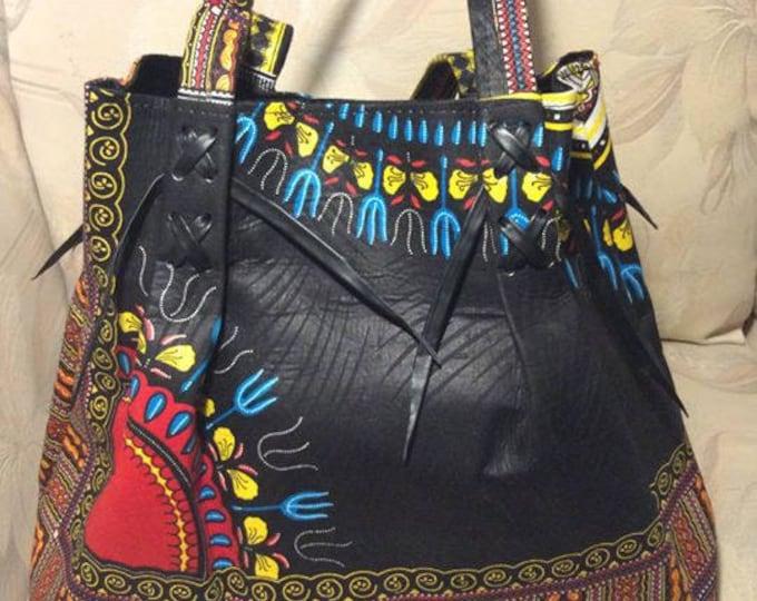 African Dashiki Fabric Bag
