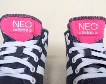 e88570a005c Blue and pink ADIDAS low top sneakers
