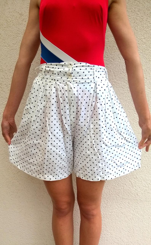 vintage summer shorts GP123 festival fashion high waist shorts beach party retro shorts women shorts Polka dot shorts M