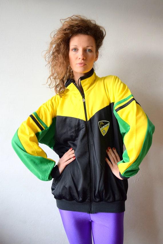 Vintage sport jacket Women workout jacket Men jogging  baee93149fee
