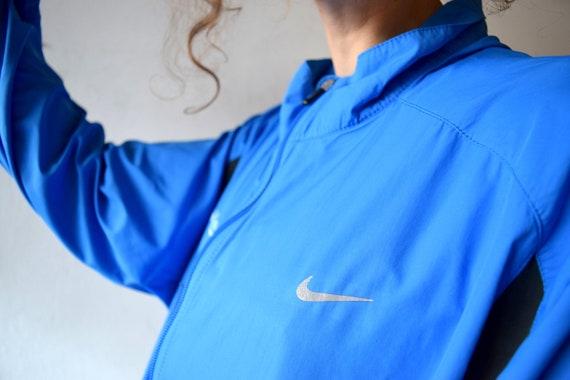 NIKE Jacke, Vintage Trainingsjacke, Männer Outdoor Jacke, blau Erdanzug, Laufjacke, Vintage Streetwear, Frauen Laufjacke, XLXXL