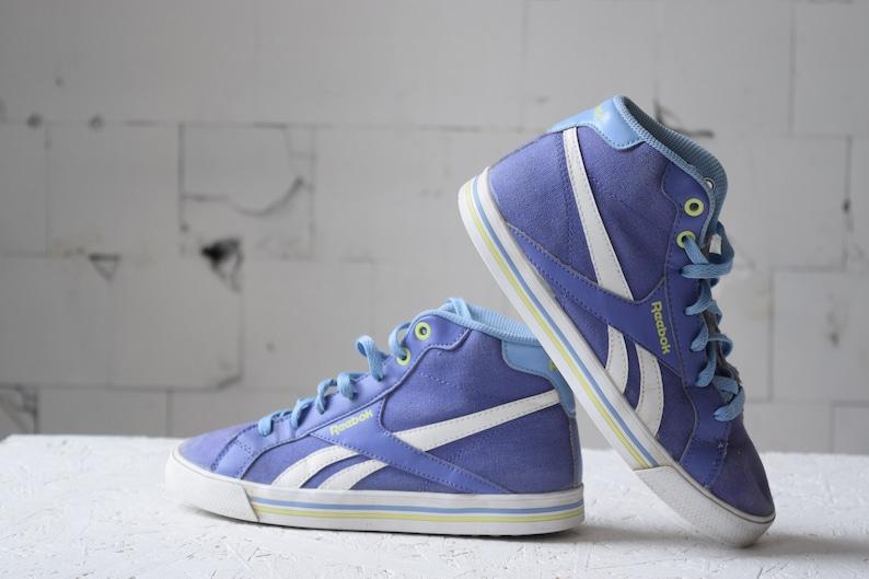 a06417481ecd2 Purple REEBOK vintage shoes, high top trainers, women's sport shoes, kids  hiphop shoes, EUR 36, US 4.5, athletic shoes, tie sneakers.