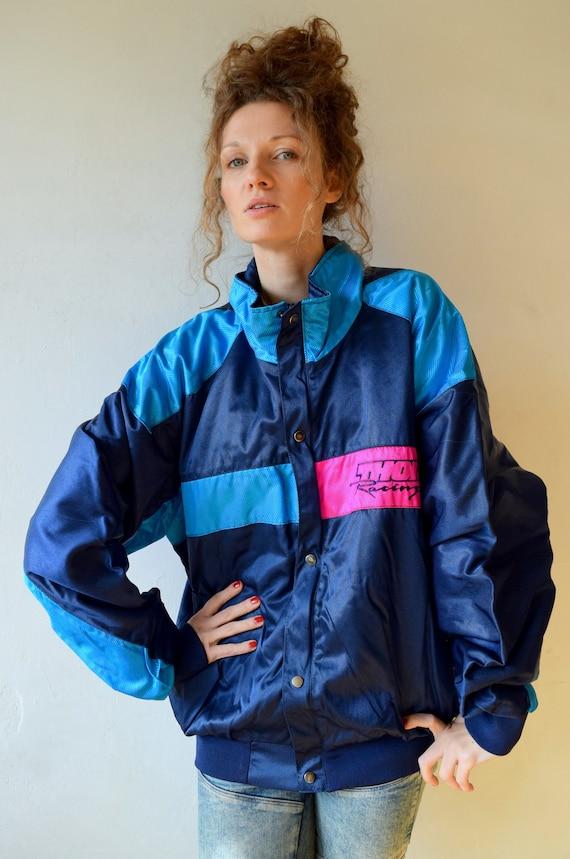 Blue winter jacket, Winter sport jacket, Vintage s