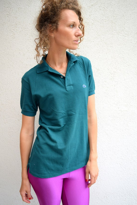 Vintage LACOSTE polo shirt dark green t-shirt sports shirt  b26b19442c