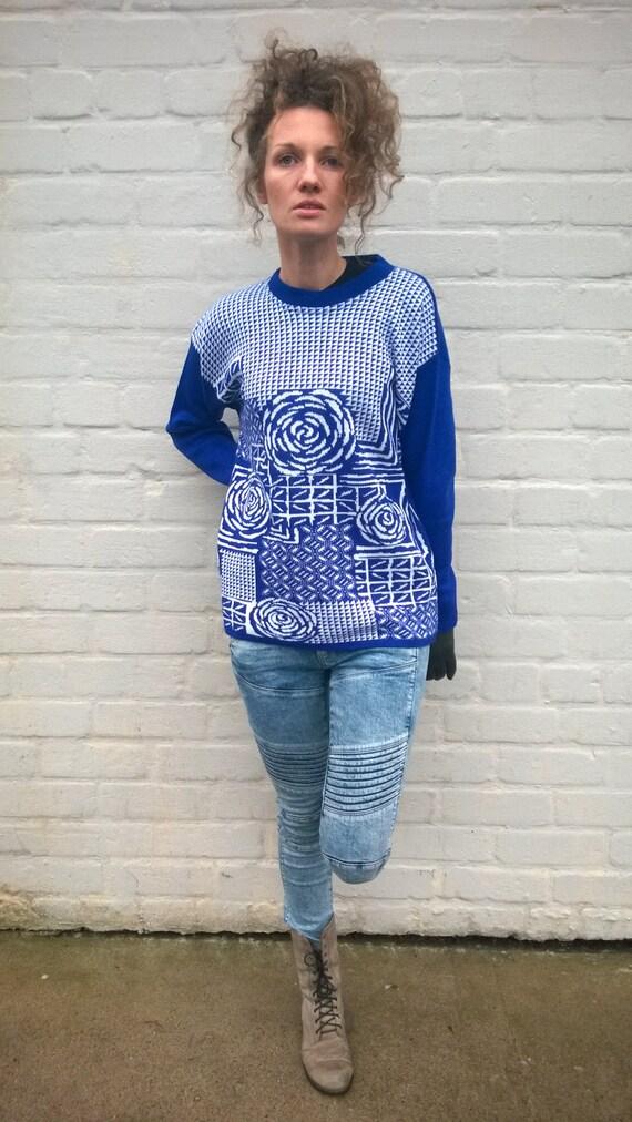 Vintage Pullover 80er Jahre Mode Winter Pullover Floralen Etsy