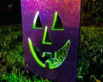 Trick Or Treat Bag, Halloween Yard Decoration, Wood Sign