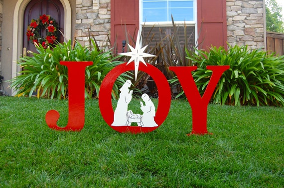 image 0 - Joy Outdoor Christmas Decoration