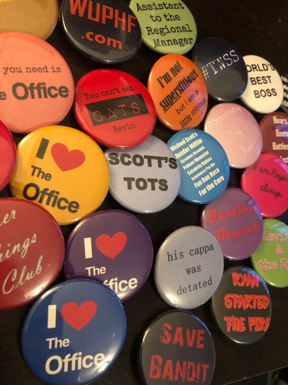 The Office inspired Pinback Buttons