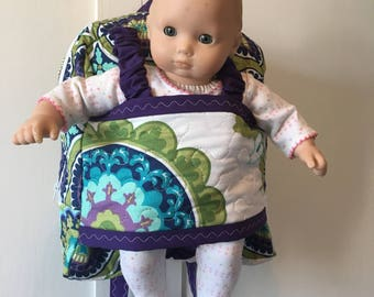 Best Friend Take along Pack, Doll Carrier, Doll Backpack, Backpack, Made to order.
