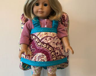 Best friend take along backpack - doll carrier - American girl doll carrier - Ready to Ship