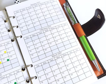 Folding Yearly Planner Insert