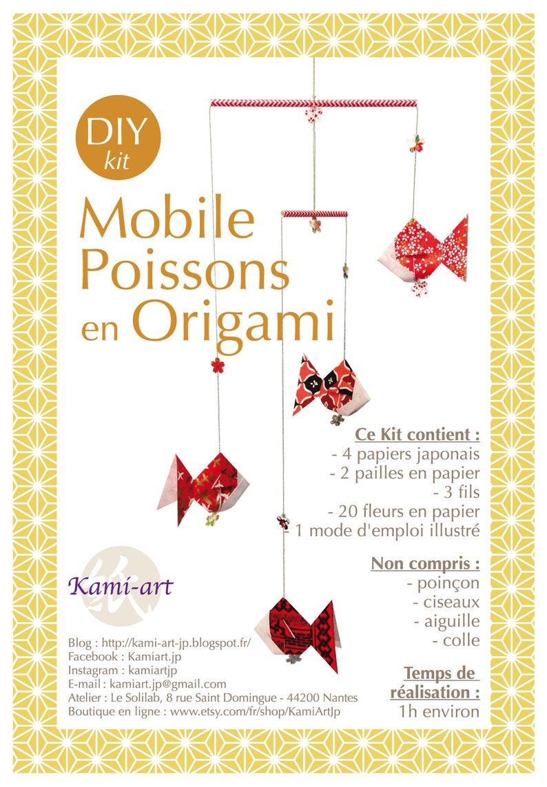 DIY KIT Mobile Origami Crane Japanese paper Washi Yuzen ...