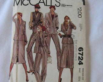 McCalls Womens Sewing Pattern 6724 Size 12