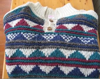 SALE Mens Handmade Sweater from Equador