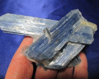 Heavenly Blue Kyanite blades in matrix - contact  Angels, guides