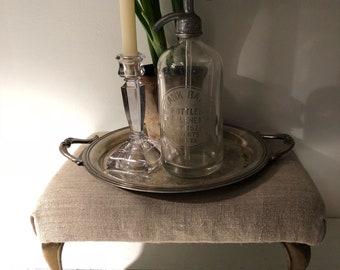Vintage ottoman step stool
