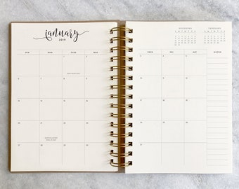 monthly planner etsy