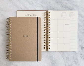 2022 planner   academic planner 2022   weekly planner 2022   wire bound student planner   daily planner   physical planner   Hard Cover