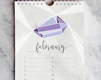 Birthday Calendar, Birthstones, Perpetual Calendar, Gemstones, Birthstone, Jewels