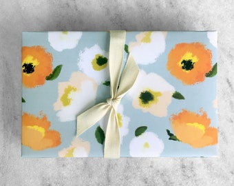 Poppies Gift Wrap, fine wrapping paper, all occasion, flat sheet paper, poppy, illustrated floral
