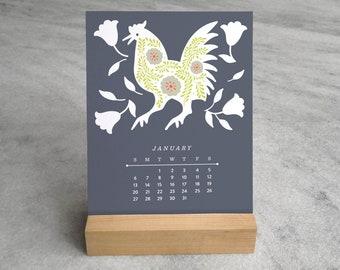 2019 Desk Calendar   Mexican Folk Art Monthly 2019 Calendar 2019   Otomi