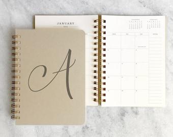 personalized 2022 planner   planner 2022    wire-bound custom planner   daily planner   weekly planner    Kraft Soft Cover