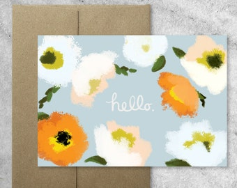 Boxed Set of 8 Poppies Notecards with Kraft Envelopes, Poppy, Blank Note Cards