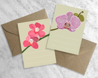 12 Orchid Enclosure Cards | Boxed Note Cards | Gift Tags | Greeting Cards