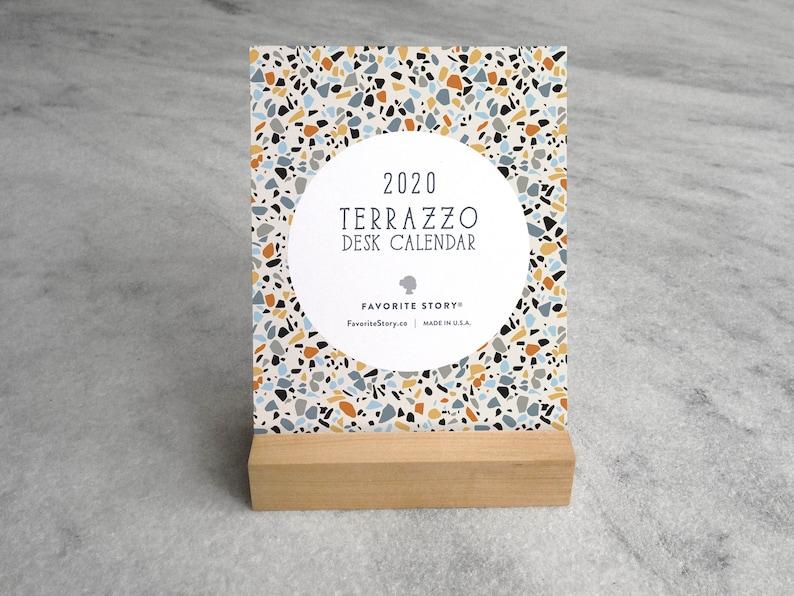 2020 Desk Calendar Terrazzo  Desk Calendar 2020  2020 image 0