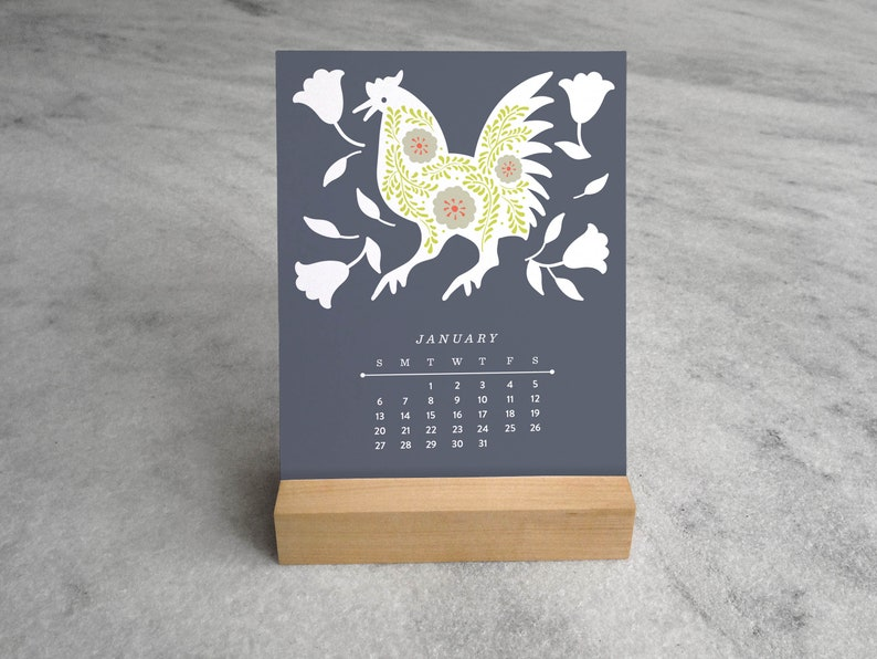 Mexican Calendar 2020 2020 Desk Calendar Mexican Folk Art Monthly 2020 Calendar | Etsy