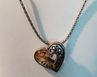 Two Tone Heart Choker