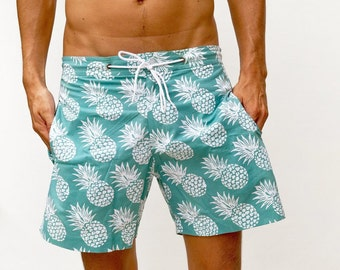 b08588419f316 Mens Barbados Pineapple Walk Shorts, Mens Boardshorts, Volley Shorts, Mens  Beach Shorts