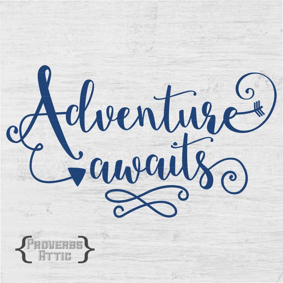 Adventure Awaits Digital File Vinyl Wall Art Screen Print