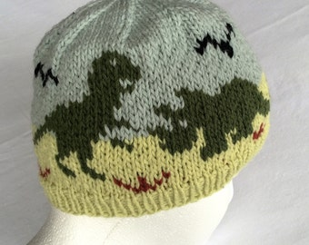 Dinosaurs Hat Knitting Pattern Original Design 9ee6557dd1c