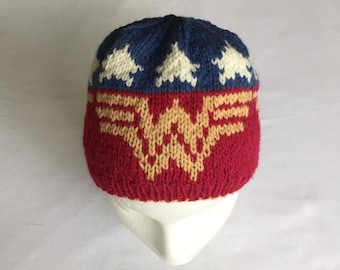 Wonder Woman Hat Knitting Pattern